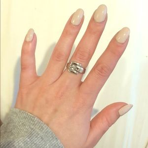 Michael Kors Silver Buckle Ring